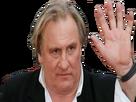 Sticker depardieu main salut aurevoir bonjour