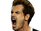 Sticker tennis andy murray cri fou