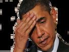 Sticker obama main sueur stress facepalm