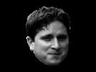 Sticker kappa twitch internet meme ironie sourire regard noir et blanc drole