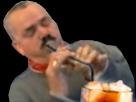 Sticker boisson paille cocktail coca glacons degustation risitas