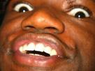 Sticker homme noir black choque wtf grands yeux