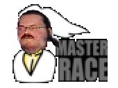 Sticker master race gros porc geek gant mappa moche infected