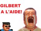 Sticker risitas gilbert police aide trump gauchiasse heros khey pleurs triste cry