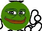 Sticker pepe frog grenouille
