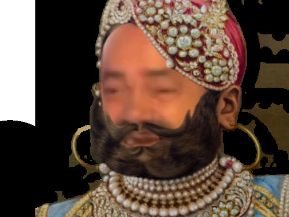 Sticker risitas maharadja raja prince inde caca merde