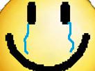 Sticker triste smiley