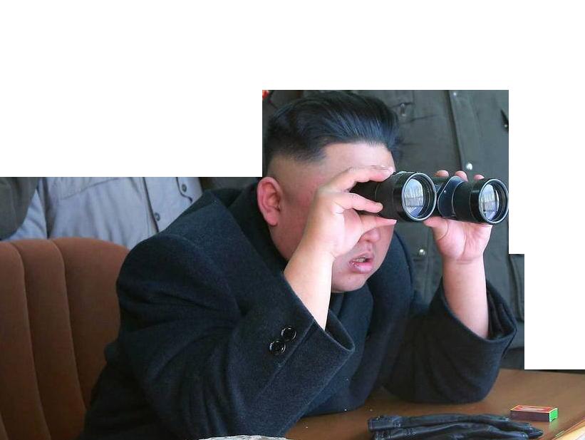 Sticker kim jong un missile jumelle jumelles coree ww3 guerre pyongyang washington alerte alert atome du nord