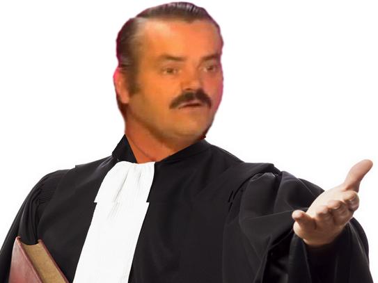 Sticker risitas avocat argument loi juge tribunal juriste greffier