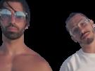 Sticker pnl qlf ademo nos regard barbe pose lunette calme