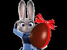 Sticker zootopie zootopia lapine judy oeuf de paques cloches avril mai police