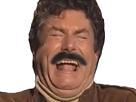 Sticker jesus rire moustache