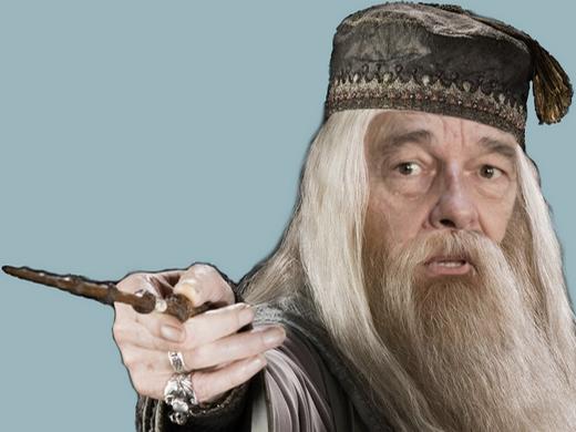 Sticker chirac dumbledore magicien sorcier vieux president doigt harry potter main sort pouvoir baguette magie mage