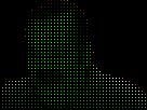 Sticker riditas pixel vert son dubstep