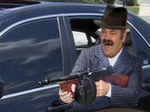 sticker de 7amwa sur risitas cia voiture mafia mitraillette pistolet arme italie usa police fbi. Black Bedroom Furniture Sets. Home Design Ideas
