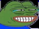 Sticker pepe the frog sourire moqueur pleurs larmes ironie