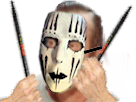 Sticker rislipknot risitas slipknot joey jordison corey taylor masque mask metal band