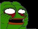 Sticker pepe the frog yeux blancs abasourdi enerve triste haine horreur peur