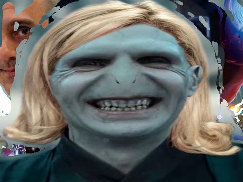 Sticker pen marine fn voldemort harry potter mage sorcier alien femme blonde rire lepen sourire secretaire mere prof moche