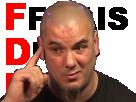 Sticker metal pantera phil anselmo deter pas content vener