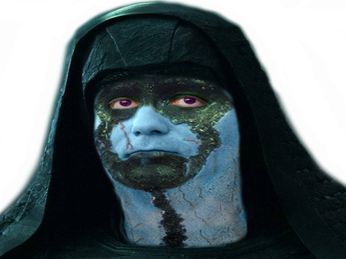 Sticker philippot pen fn marion nebula thanos marvel alien vilain ovni soldat politique avengers galaxie star bleu juge ronan