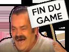 Sticker panneau fin du game