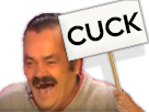 Sticker panneau cuck risitas