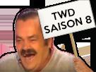 Sticker panneau twd the walkng dead saison 8 s8