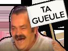 Sticker panneau ta gueule insultes