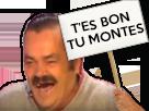 Sticker panneau tes bon tu montes you bon you montes