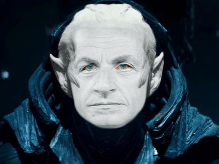 Sticker sarkozy malekith thor elfe marvel lr invasion nicolas ovni alien mage dark president lutin elfe vilain nain mechant