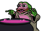 Sticker pepe the frog magicien potion cuisiner magie magique violet