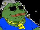 Sticker pepe the frog gangsta gangster lunette casquette luxe rappeur rap racaille wesh frimeur