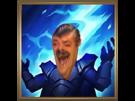 Sticker league of legends lol thunderlord decret lord fulminant eclair foudre tonerre rire maitrise mastery icone creepy peur