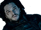 Sticker jon snow mort game of thrones tant pis je meurs