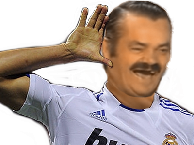 Sticker risitas rire ronaldo cr7 real madrid foot football salut oreille ecoute but champion ligue