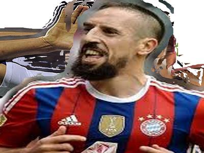 Sticker ribery franck bayern munich but foot football om ligue champion
