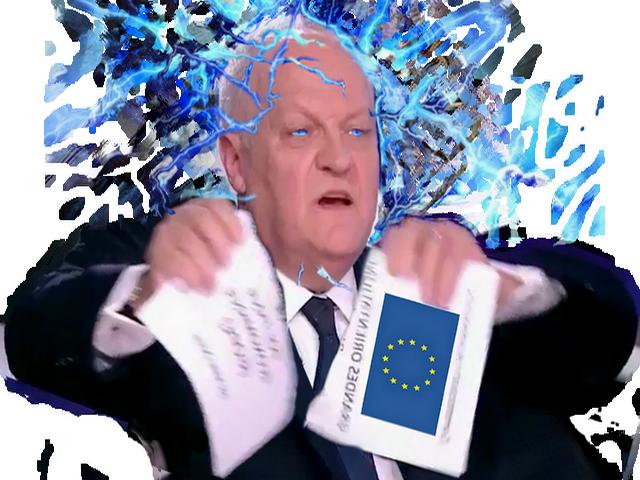 Sticker asselineau dechire gope frexit upr europe enerve colere main rage melenchon pen marine fn gauche fillon macron