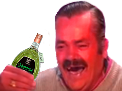 Sticker risitas bourre absinthe alcool