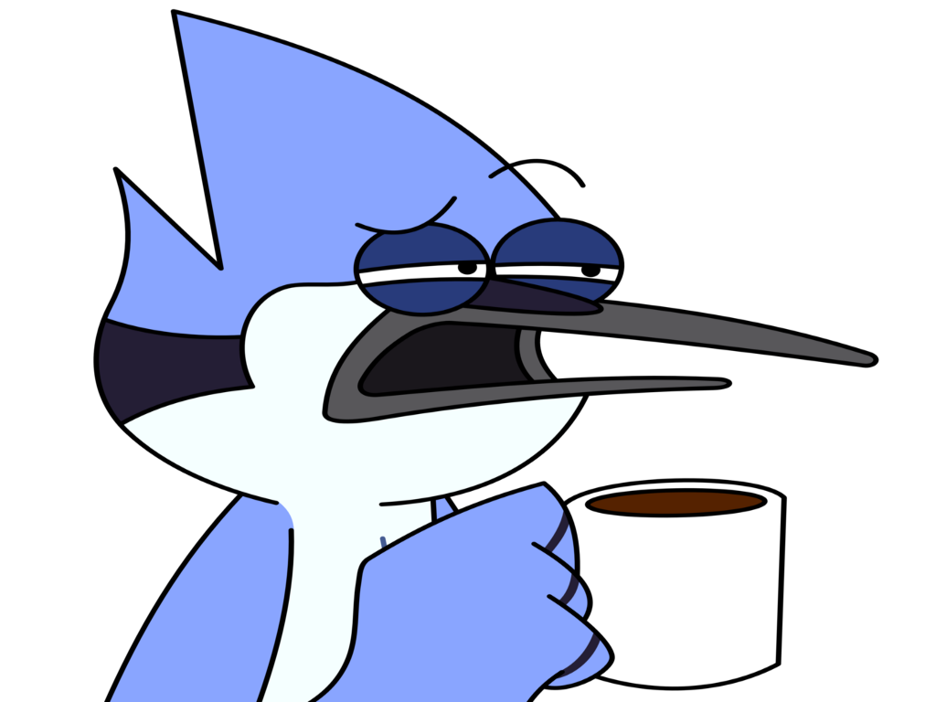 Sticker mordecai boit cafe cafe sourcil sourcils regular show