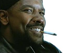 Sticker other denzel washington my mah nigga sourire clope cigarette