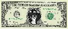 Sticker other tinnova super lounard de espace space okamitsune renard loup dollar usd etats unis united stats usa monnaie argent billet furry