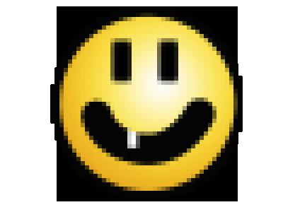 Sticker jvc smiley dent sourire