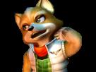 Sticker other starfox fox mc cloud adventures gamecube gc bras embarasse gene malaise timide renard furry