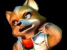 Sticker other starfox fox mc cloud adventures gamecube gc bras embarasse gene malaise timide renard furry zoom
