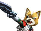 Sticker other starfox fox mc cloud assault gamecube gc attaque agressif enerve vener nrv pistolet laser flingue renard furry zoom