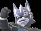 Sticker other starfox wolf o donnell assault super smash bros brawl melee ssbb ssbm fier defi rival moqueur sourire combat attaque loup furry viseur detecteur