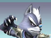 Sticker starfox wolf o donnell super smash bros brawl ssbb fier defi rival moqueur sourire combat attaque loup furry viseur detecteur