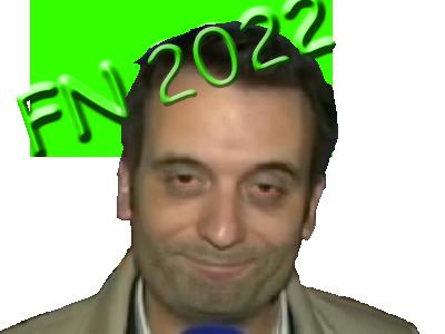 Sticker politic florian philippot 2022 fn sourire souris yeux fermer ferme sdf clochard clodo rouge cerne