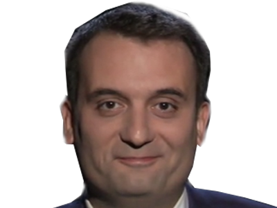 Sticker politic philippot moqueur moque sourire malaise fiddle grotte